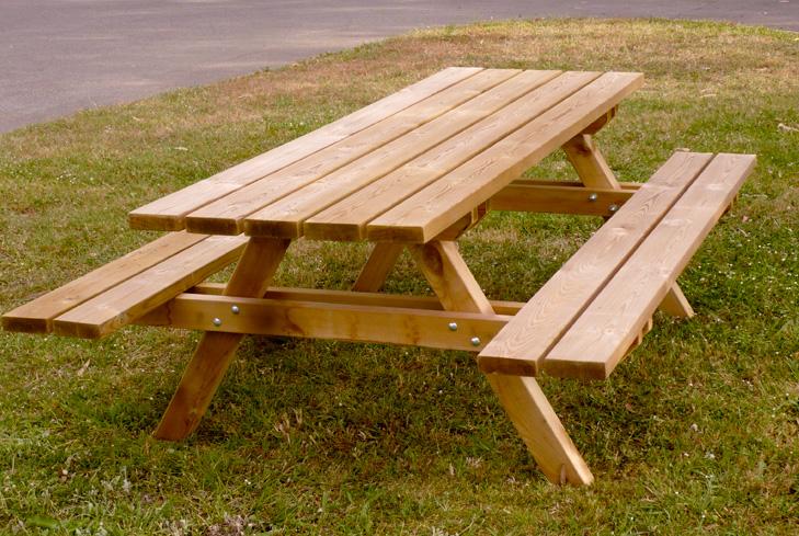 Pin centro de jardineria truvi on pinterest for Mesa de picnic madera